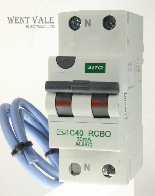 Alto AL6472 - 40a 30mA Type C Single Pole Switched Neutral AC RCBO Un-used